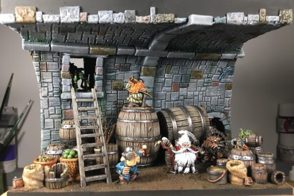 Des nains dans la cave – la peinture